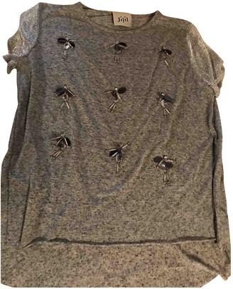 Jijil Grey Cotton Top for Women