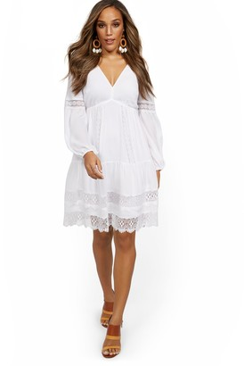 New York & Co. Balloon-Sleeve Dress - Lily & Cali
