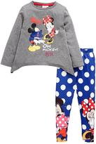 Minnie Mouse Girls Top And Legging Set