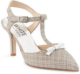 Ron White Beck Printed Suede T-Strap Pumps