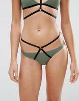 Asos Elastic Harness Contrast Hipster Bikini Bottom