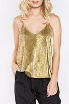 Sugar Lips Sugarlips Gold Metallic Top