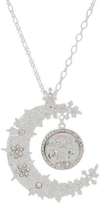 Kirks Folly Seaview Ice Moon Snowflake Necklace