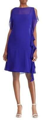 Lauren Ralph Lauren Sheer-Georgette Ruffled Dress