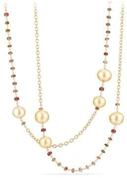David Yurman Oceanica Link Necklace With South Sea Yellow Pearls And