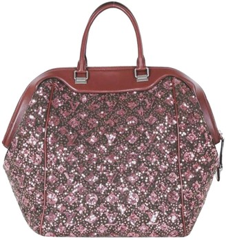 Louis Vuitton Burgundy Leather Handbags