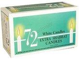 Zion Ner Shabbat Candles Deluxe, 72 Piece