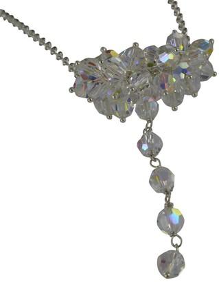 Swarovski Jane Davis Sterling Silver Crystal Cluster Necklace 43cm