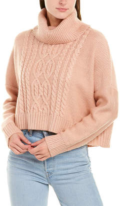 BB Dakota Cowl Neck Wool-Blend Sweater