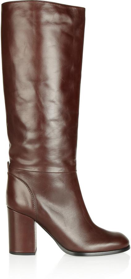 Jil Sander Navy Leather knee boots