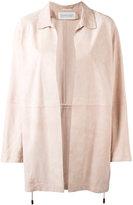 Fabiana Filippi plain coat - women - Cotton/Suede/Acetate/Polybutylene Terephthalate (PBT) - 42