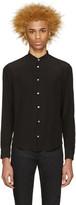 CNC Costume National Black Crepe De Chine Shirt