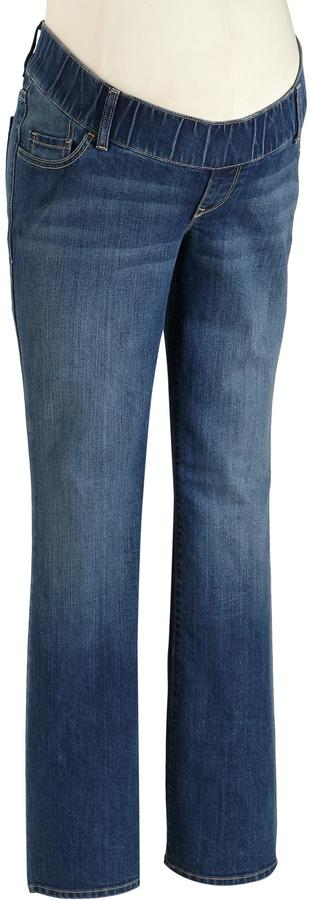 Old Navy Maternity Woven-Waist Boot-Cut Jeans