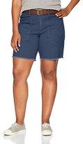 UNIONBAY Women's Plus Size Ammber Solid Midi Bermuda