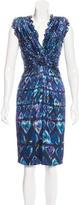 Roberto Cavalli Structured Satin Dress