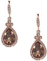 Givenchy Rose Goldtone Crystal Pave Drop Earrings