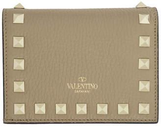 Valentino Tan Garavani Small Rockstud Wallet