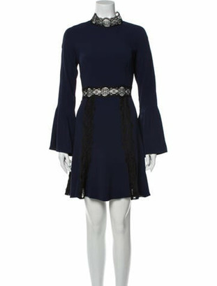 Jonathan Simkhai Mock Neck Mini Dress w/ Tags Blue