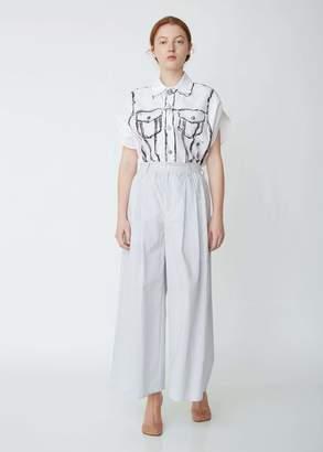 MM6 MAISON MARGIELA Striped Wide Leg Trousers