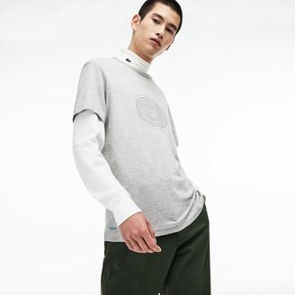 Lacoste Men's Crew Neck Oversized Badge Cotton Jersey T-Shirt