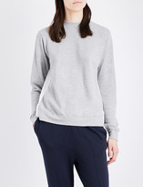 Clu Draped-back cotton-jersey sweatshirt