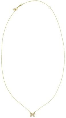 Sydney Evan 14kt Yellow Gold Butterfly Diamond Pendant Necklace