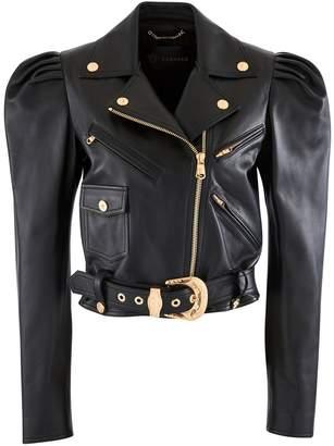 Versace Leather blouson jacket