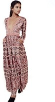 For Love & Lemons Juliet Maxi Dress in Maroon