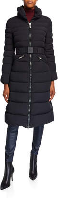 Post Card Mana Fur-Collar Long Puffer Coat