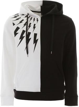 Neil Barrett Thunder Print Hooded Sweatshirt