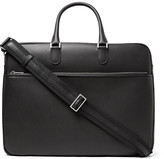 Valextra Soft Avietta Pilotina Pebble-grain Leather Briefcase