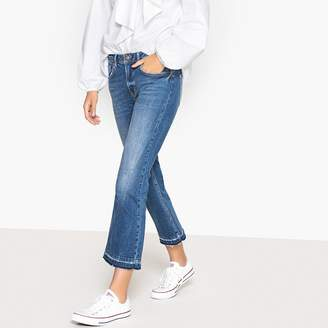 La Redoute Collections Cropped Straight Jeans, Length 26""