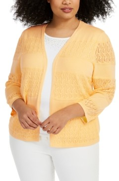 Alfred Dunner Plus Size Classics Two-For-One Sweater Top