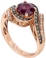 Thumbnail for your product : LeVian Chocolatier 14K Rose Gold 1.71 Ct. Tw. Diamond & Rhodolite Ring
