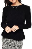 Miss Selfridge Solid Ribbed Peplum Sweater
