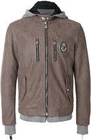 Billionaire zipped hooded jacket - men - Cotton/Calf Leather/Cupro - 52
