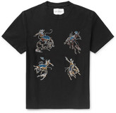 Our Legacy Rodeo Embroidered Cotton-jersey T-shirt - Black