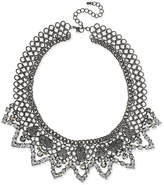 INC International Concepts I.N.C. Hematite-Tone Stone and Pavé Statement Necklace, Created for Macy's