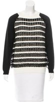 Cédric Charlier Virgin Wool Fringe-Trimmed Sweater w/ Tags