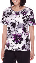 Alfred Dunner Short-Sleeve Floral-Print Top