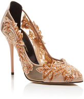 Oscar de la Renta Alyssa Embroidered Pumps