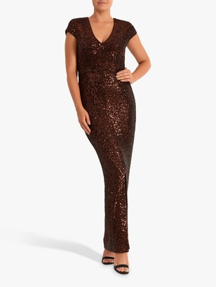 Fenn Wright Manson Frederique Sequin Dress, Rose Gold