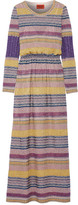 Missoni Striped Metallic Crochet-knit Maxi Dress - Pink