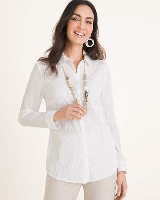 Chico's Chicos Tonal Embroidered Shirt