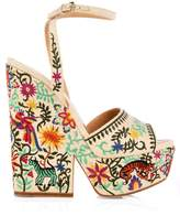 Sergio Rossi Cacoon embroidered wedge sandals