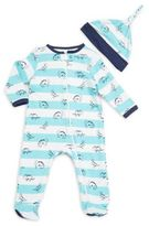 Offspring Baby's Two-Piece Printed Hat & Footie Set