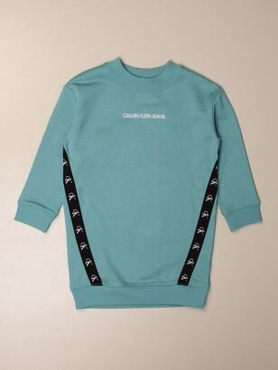 Calvin Klein Sweatshirt Dress With Logoed Bands