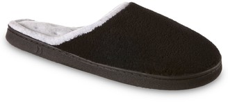 Isotoner Women's Microterry Wide Clog Slippers