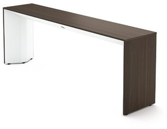 "Steelcase Campfire 66"" Console Table Table Base Color: Arctic White, Table Top Color: Blackwood"