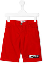 Moschino Kids - logo shorts - kids - Cotton/Spandex/Elastane - 5 yrs